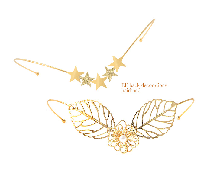 [ 4xtyle ] elf back decorations headband headband (Leaf)