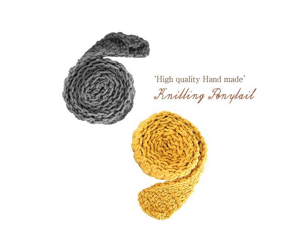 [ 4xtyle ] [handmade] knitting ponytail
