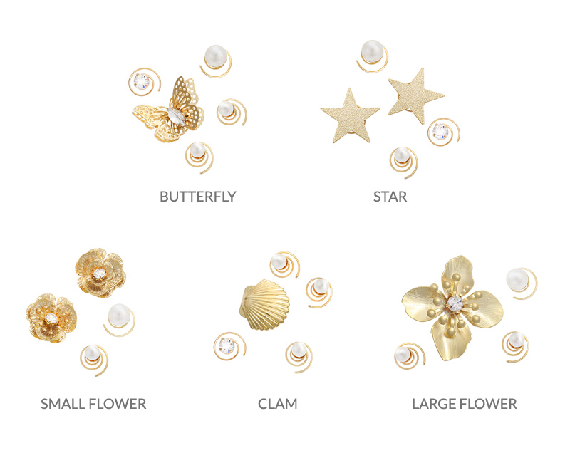 [ 4xtyle ] [4xstyle]snail hairpin (large flower)