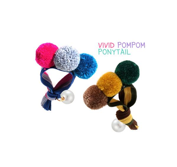 [ 4xtyle ] [4xtyle] Vivid Pompom Ponytail
