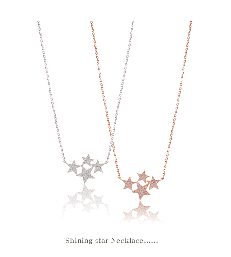 [ 4xtyle ] Shining Star Silver Necklace, 3 colors