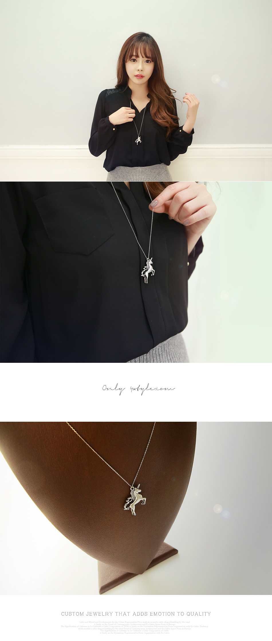 [ 4xtyle ] Unicorn Long Necklace, One color