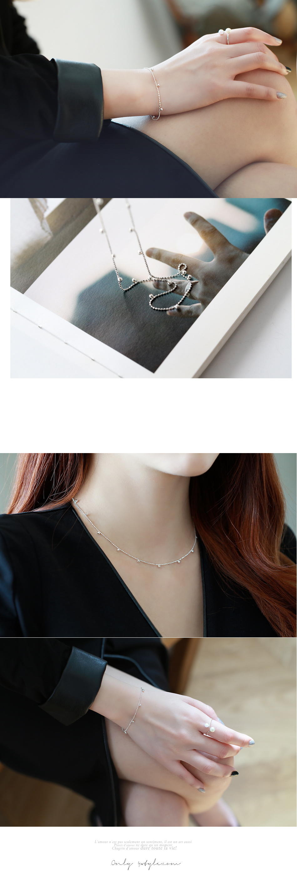 [ 4xtyle ] Ball Point Silver Necklace, One Color