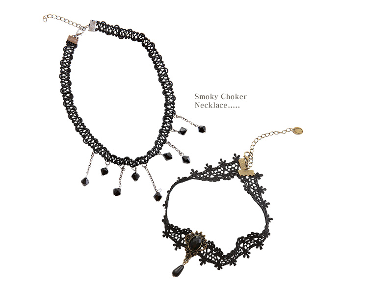 [ 4xtyle ] Smoky Choker Necklace, 2 Types