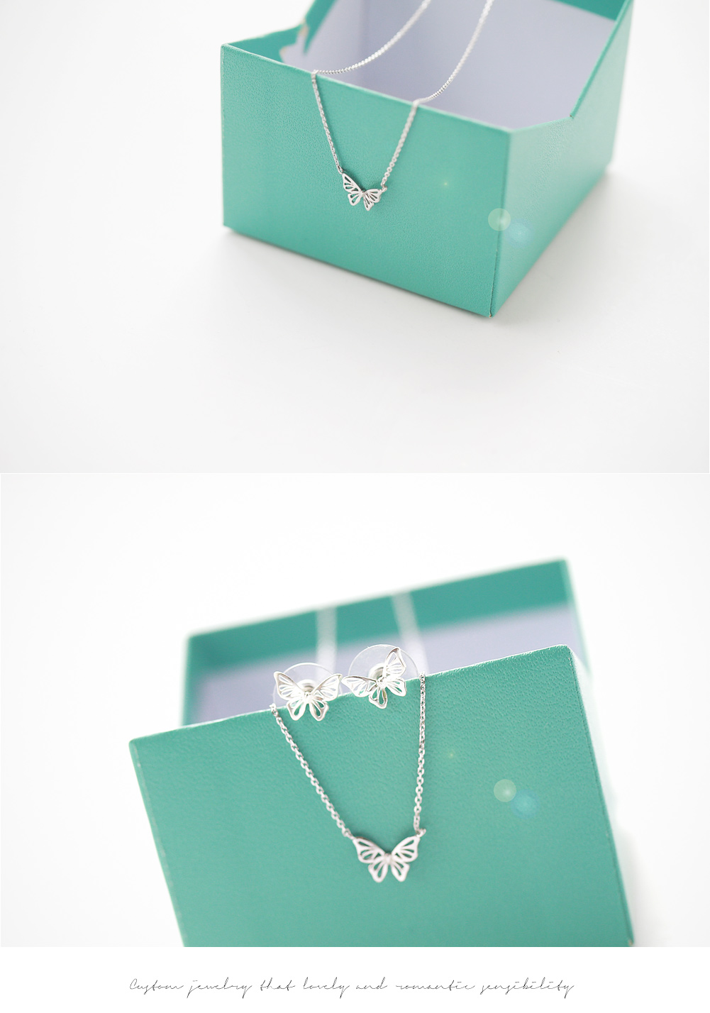 [ 4xtyle ] [SILVER] MILK BUTTERFLY NECKLACE(WHITEGOLD)