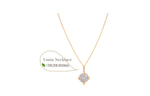 [ 4xtyle ] Vonin Silver Necklace, 2 colors