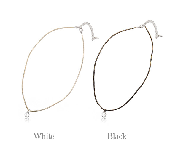 [ 4xtyle ] Chic Round Cubic Necklace, 2 Colors