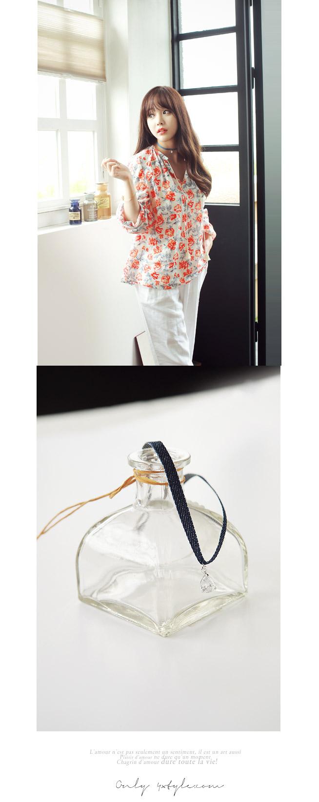 [ 4xtyle ] 牛仔布环项链,2色