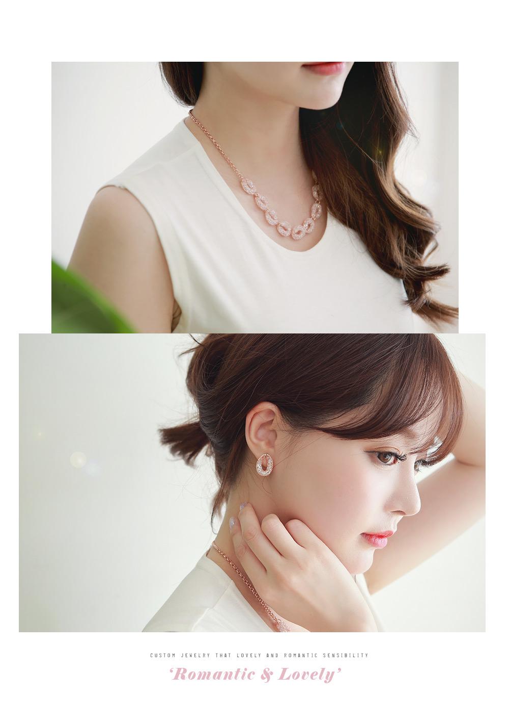 [ 4xtyle ] Mesh Tear Necklace, 3 Colors
