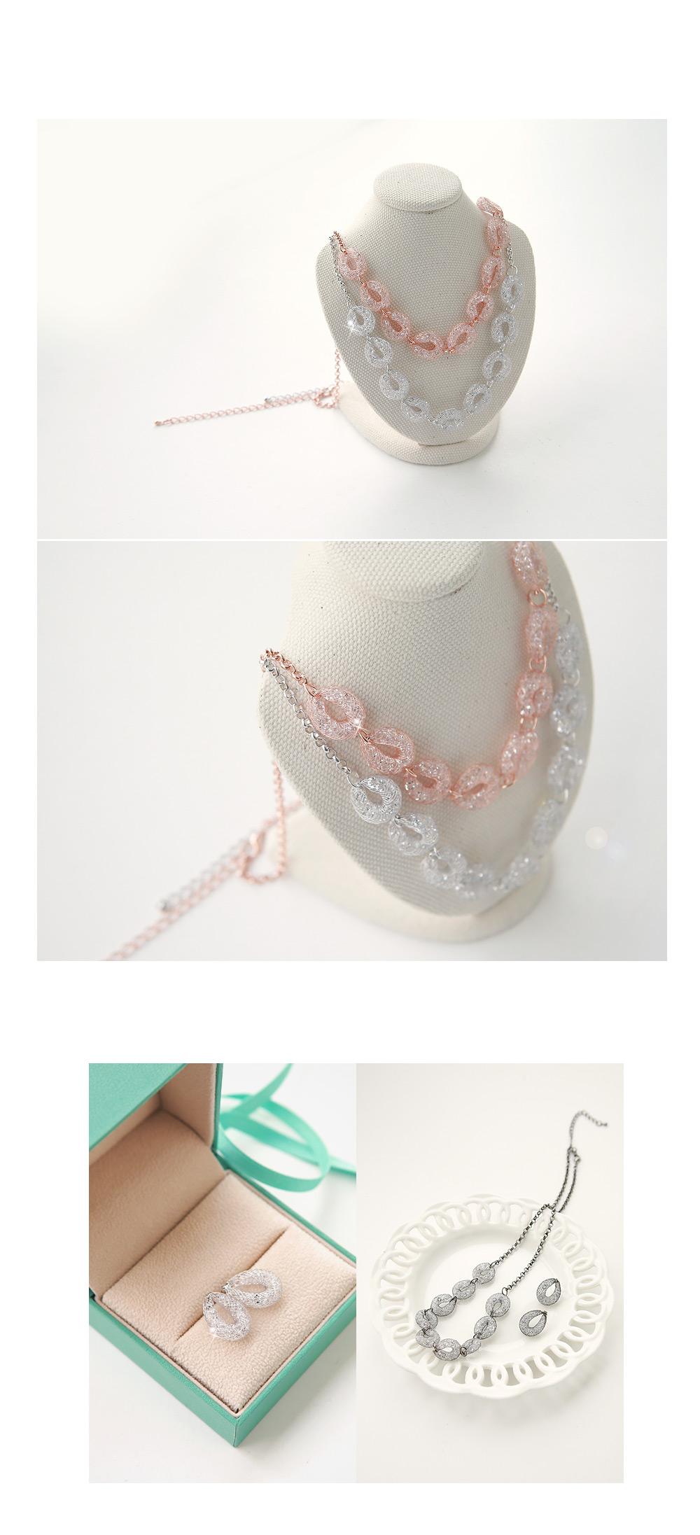 [ 4xtyle ] 网状撕裂项链、3种颜色