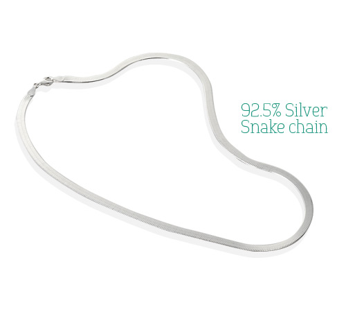 [ 4xtyle ] [SILVER] 4MM SNAKE CHAIN NECKLACE (42CM)