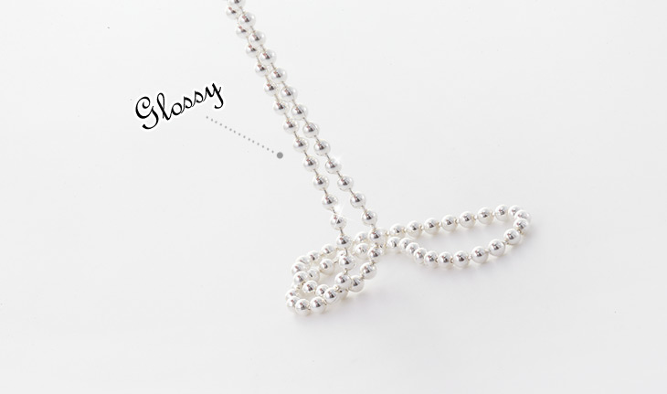 [ 4xtyle ] 3mm Ball Chain Silver Necklace, One Color