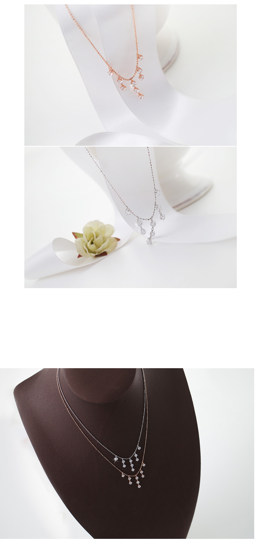 [ 4xtyle ] Davinci Lux Silver Necklace, 2 Colors