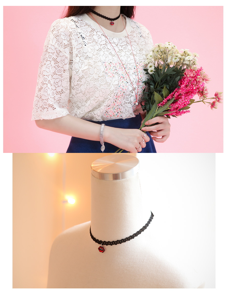 [ 4xtyle ] Levhe Choker Necklace, One Color