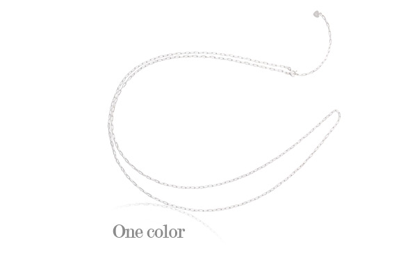 [ 4xtyle ] Square Shot Chain Silver Necklace, One Color