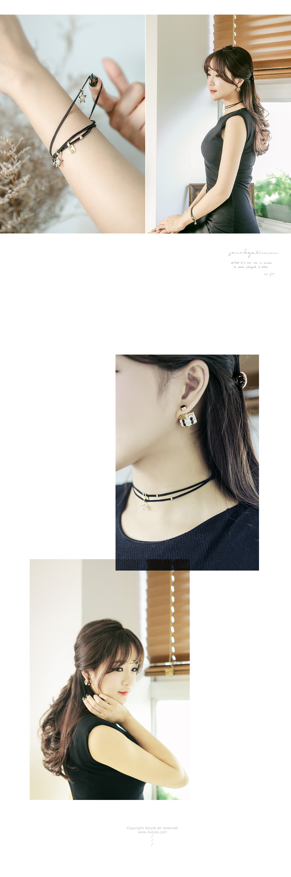 [ 4xtyle ] Aqua Choker Necklace, One Color