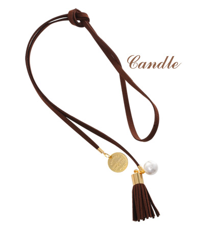 [ 4xtyle ] Candle Tassel Long Necklace, 2 Colors