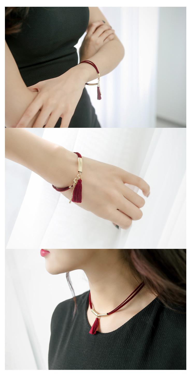 [ 4xtyle ] Nove Tassel Necklace, 6 Colors