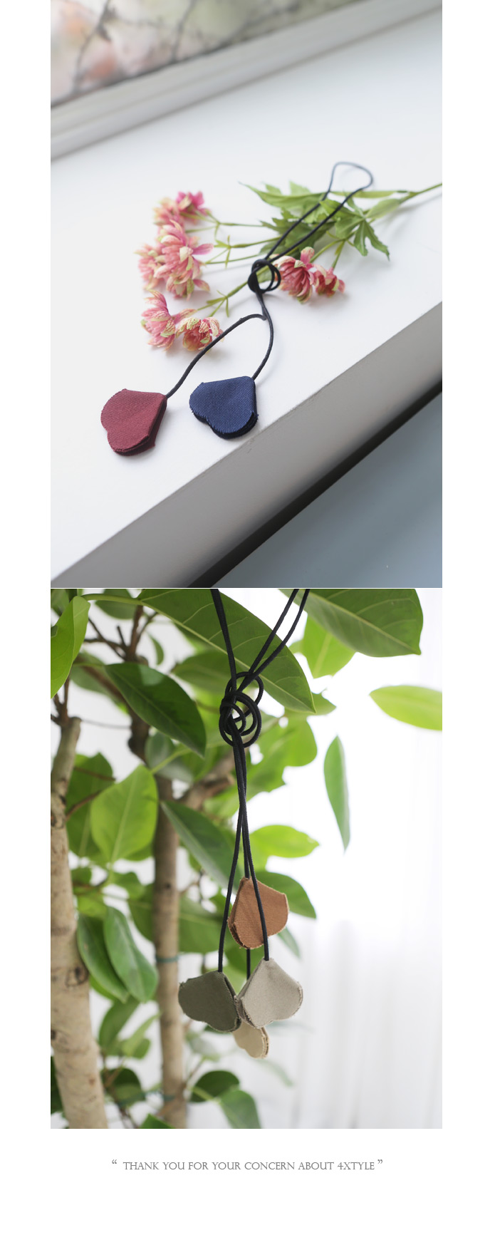 [ 4xtyle ] Petal Long Necklace, 4 Colors