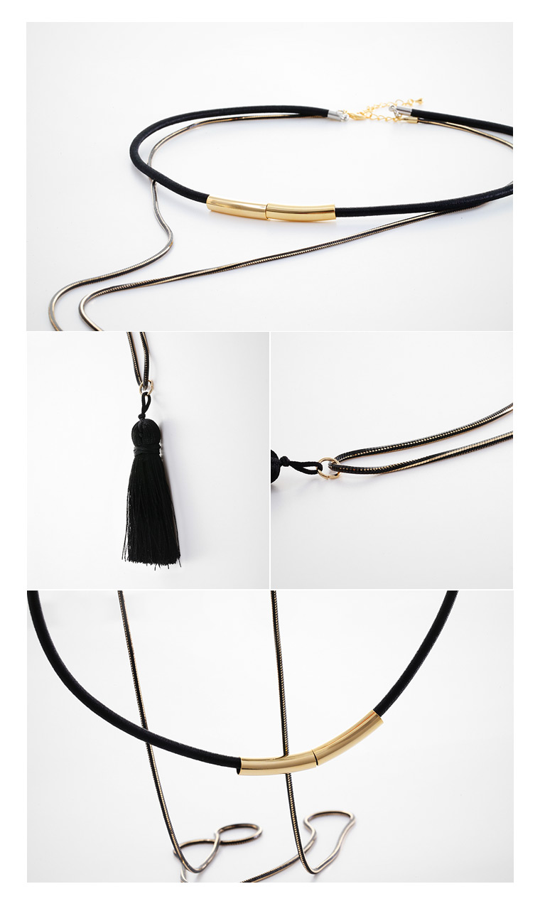 [ 4xtyle ] Tyr Tassel Necklace, One Color