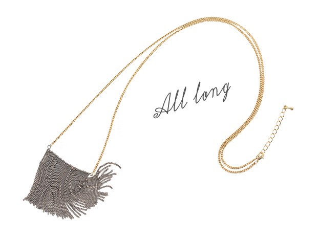 [ 4xtyle ] All Long Necklace, One Color