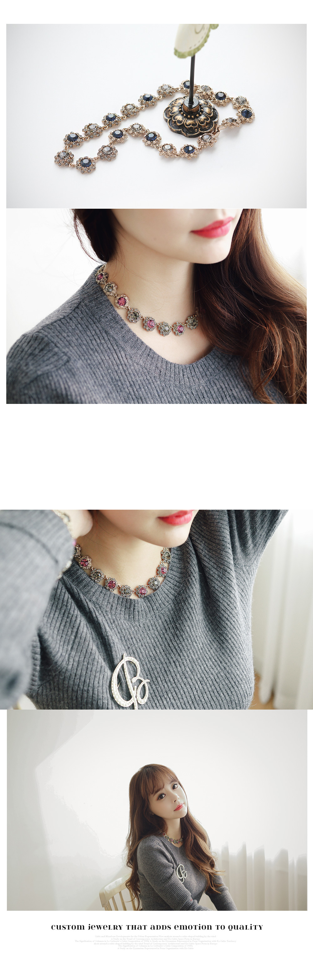 [ 4xtyle ] Frang Colorstone Necklace, 2 Colors