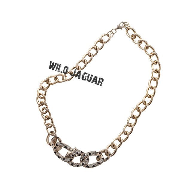 [ 4xtyle ] Wild Jaguar Necklace, 3 Colors