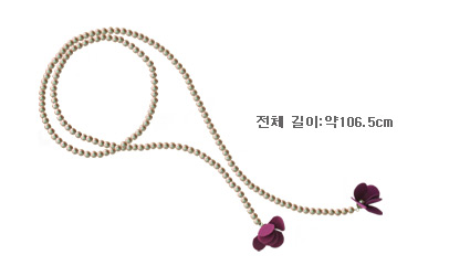 [ 4xtyle ] Lapig Pearl Flower Necklace, 4 Colors