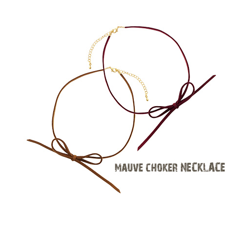 [ 4xtyle ] Mauve Choker Necklace, 5 Colors
