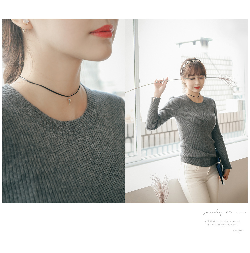 [ 4xtyle ] Sharp Chocker Necklace, 2 Colors