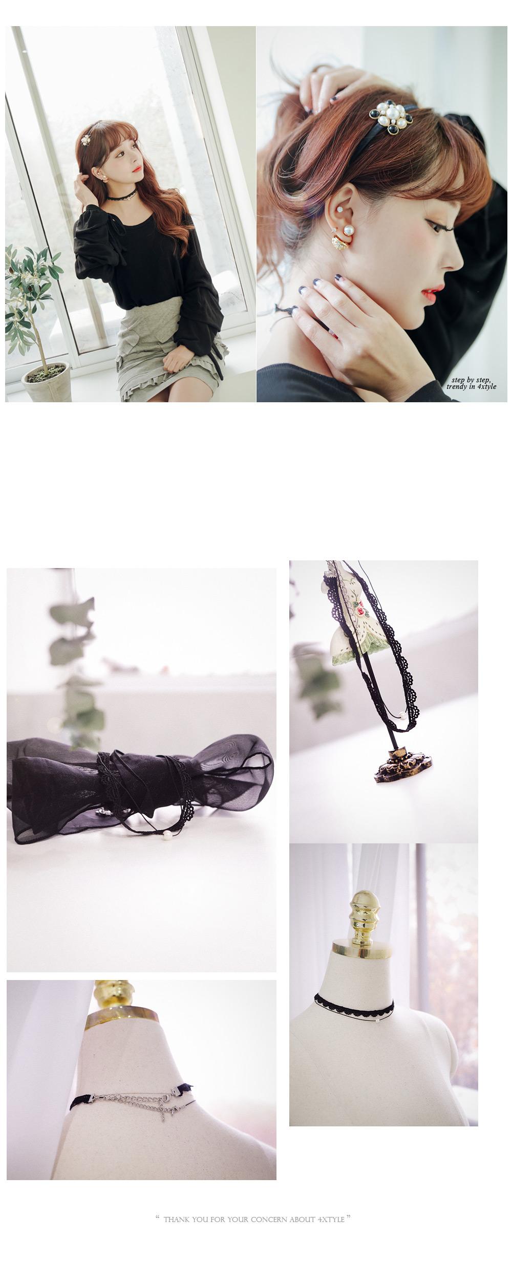 [ 4xtyle ] 黑天鹅环项链、一种颜色