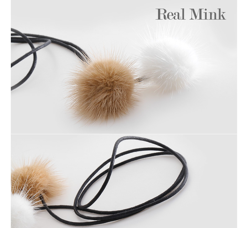 [ 4xtyle ] Real Mink Necklace, 2 Colors
