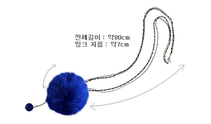 [ 4xtyle ] Mink Lady Necklace, 4 Colors
