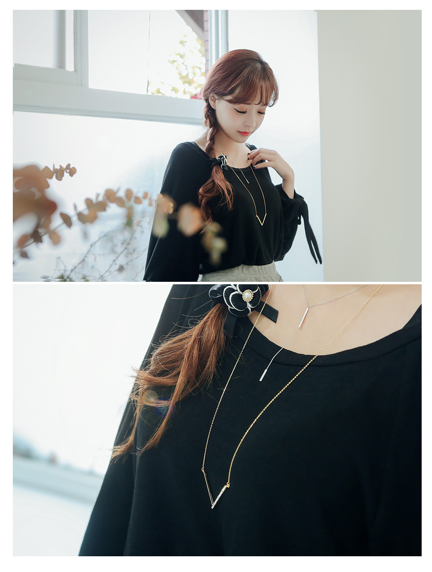 [ 4xtyle ] V Long Necklace, 2 Colors