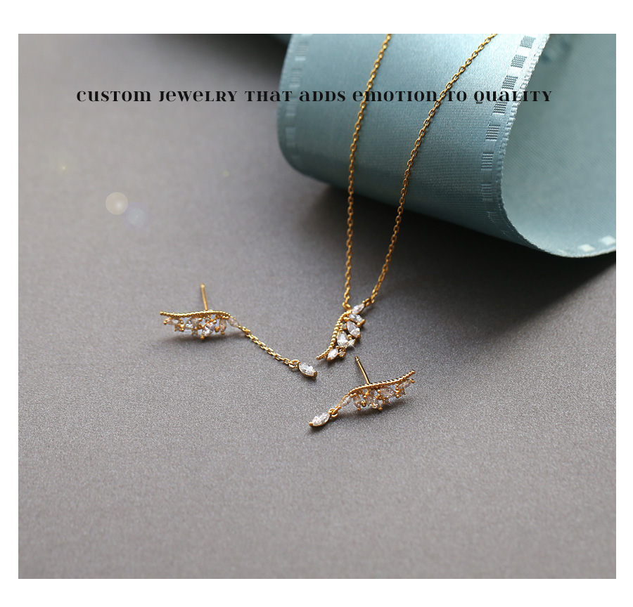 [ 4xtyle ] AVIEN WING NECKLACE (WHITEGOLD)