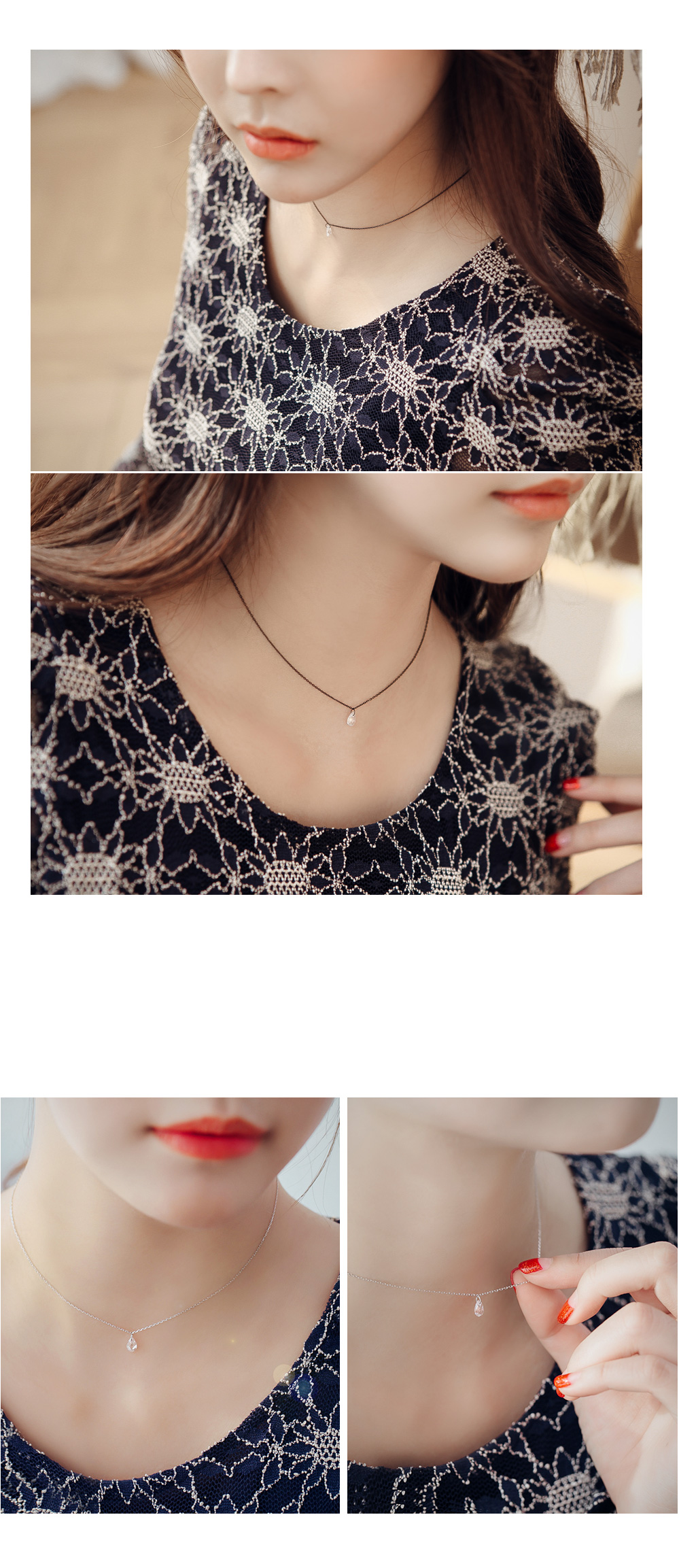 [ 4xtyle ] D-day Silver Choker, 4 Colors