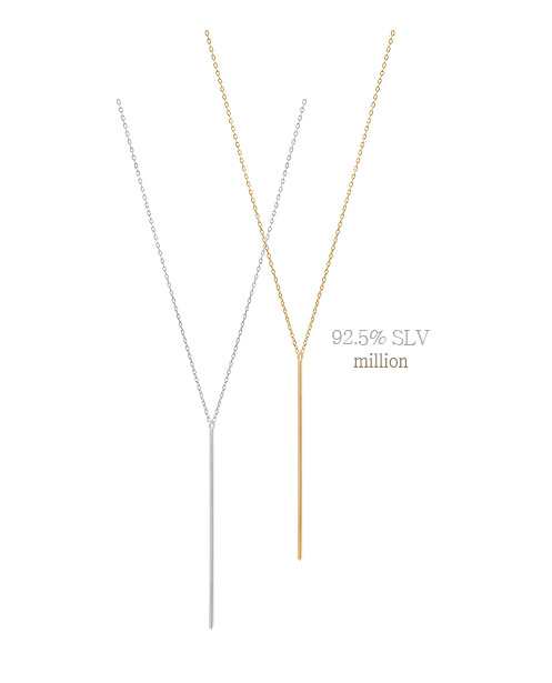 [ 4xtyle ] [SILVER] MILLION NECKLACE (LONG-WHITE)