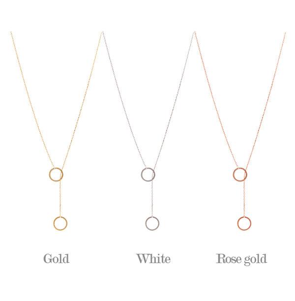 [ 4xtyle ] 迷你双圈银项链,3色