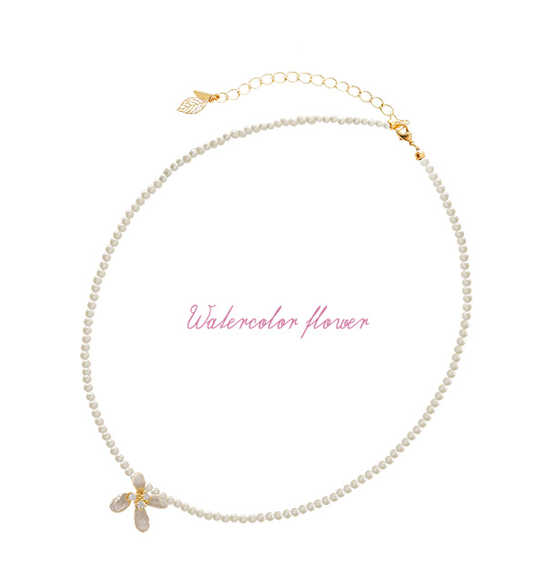 [ 4xtyle ] WATERCOLOR FLOWER CHOKER NECKLACE