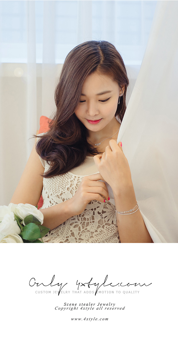 [ 4xtyle ] LOVABLE DAY NECKLACE(WHITEGOLD)