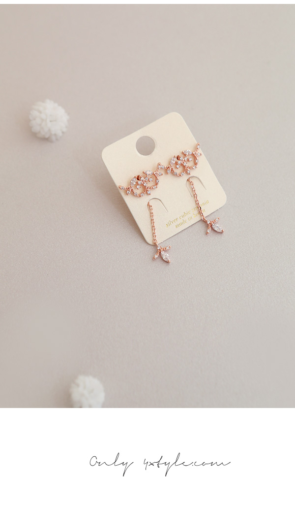 [ 4xtyle ] LOVABLE DAY NECKLACE(ROSEGOLD)