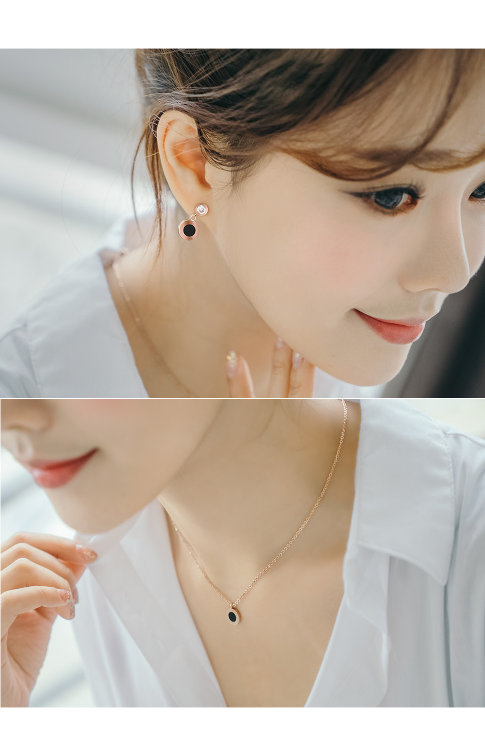 [ 4xtyle ] [STAINLESS STEEL] SENE ROUND NECKLACE
