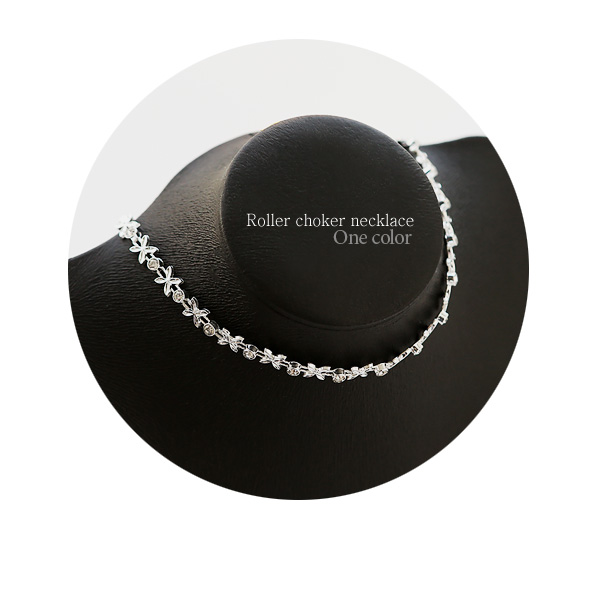 [ 4xtyle ] ROLLER CHOKER NECKLACE