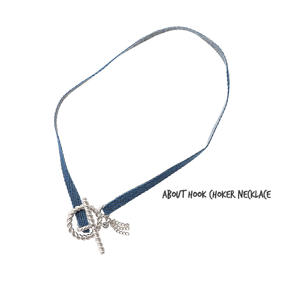 [ 4xtyle ] [two-way bracelet] about hook choker necklace