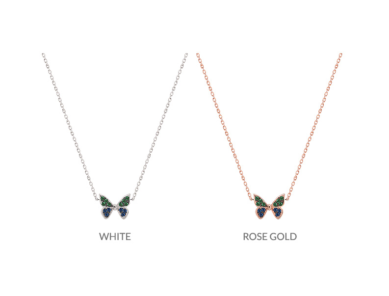 [ 4xtyle ] [SILVER] Butterfly Cute Necklace