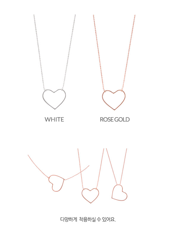 [ 4xtyle ] [silver]story heart necklace