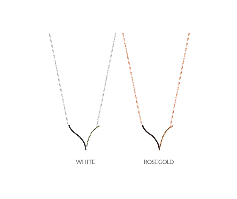 [ 4xtyle ] [4xstyle][silver] wake line necklace