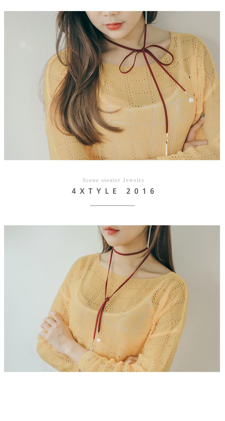[ 4xtyle ] [ 4xstyle ]光亮棒项链