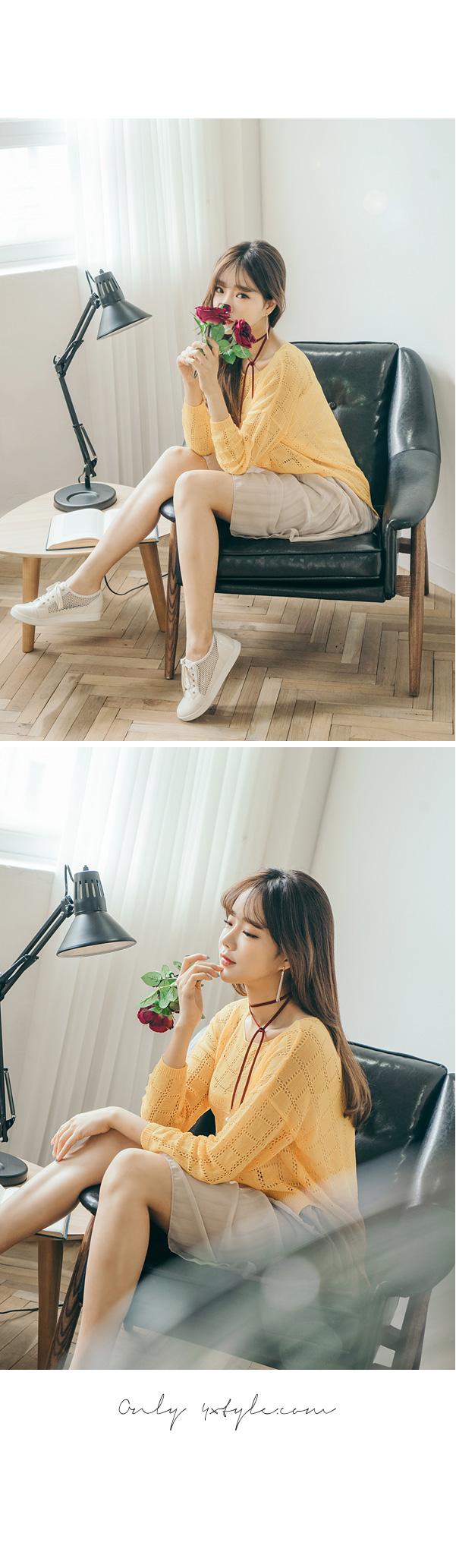 [ 4xtyle ] [4xstyle]shiny stick necklace