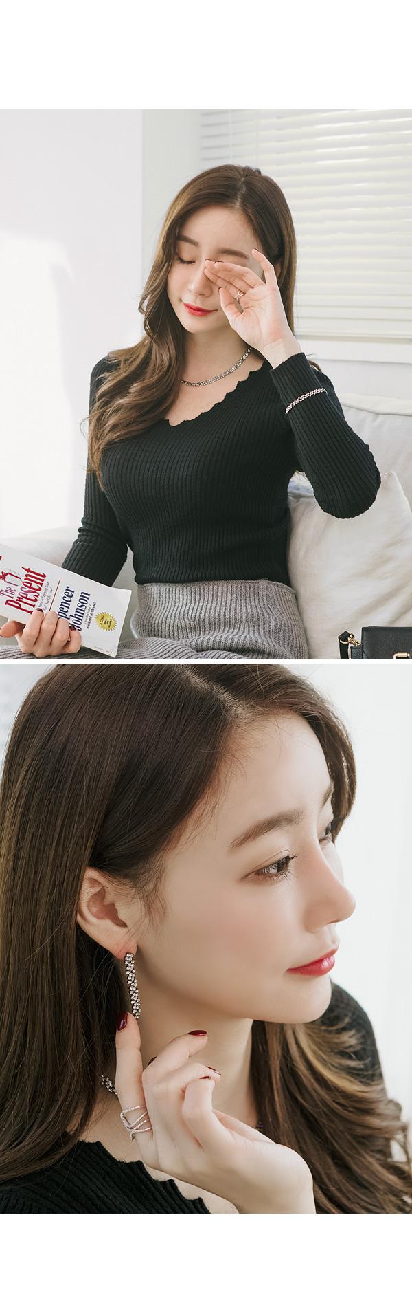 솔렘 큐빅 목걸이 - 폭스타일, 27,000원, 실버, 펜던트목걸이